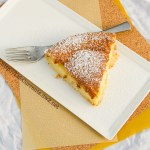 Custard Tart or 1-2-3 Tart Magically separates into a crust layer, custard, and cake. It's easy and really yummy! Life Currents https://lifecurrentsblog.com/ #dessert #custard #cake