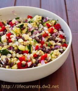 Mexican Corn Salad | Life Currents #Mexican #vegan #salad
