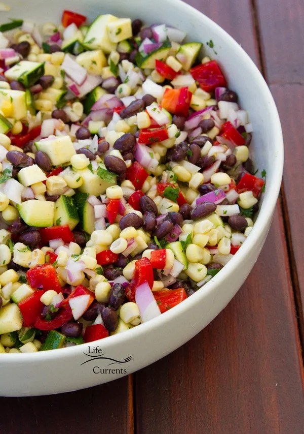Mexican Corn Salad - easy to make and delicious in taco bars, tacos, tostadas, burritos, anything!