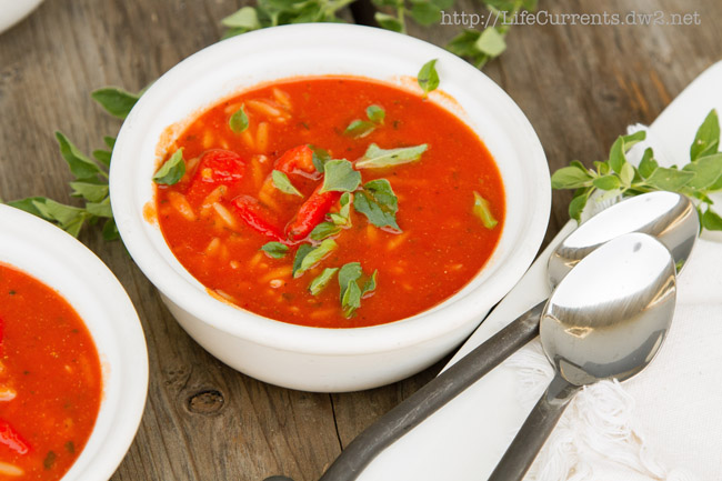 Easy Weeknight Italian Tomato Soup with or without Shrimp #vegan #seafood #soup
