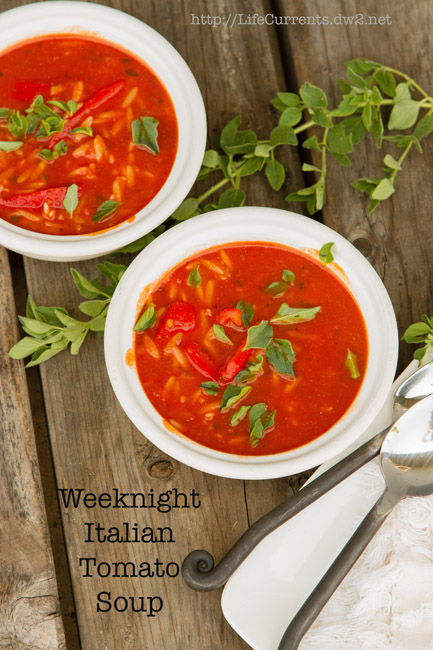 Easy Weeknight Italian Tomato Soup #vegan #soup #weeknight