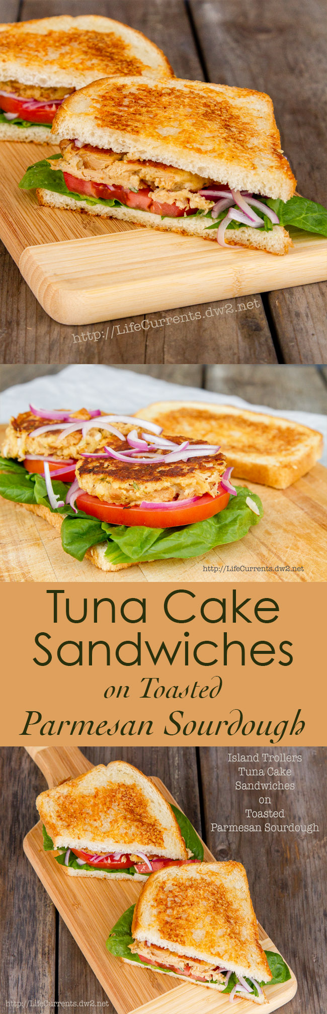 Island Trollers Tuna Cake Sandwiches on Toasted Parmesan Sourdough Recipe