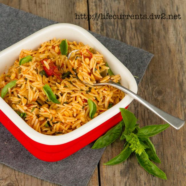 Garlic Parmesan Pasta - more recipes Orzo Pasta with Balsamic Tomatoes and Basil