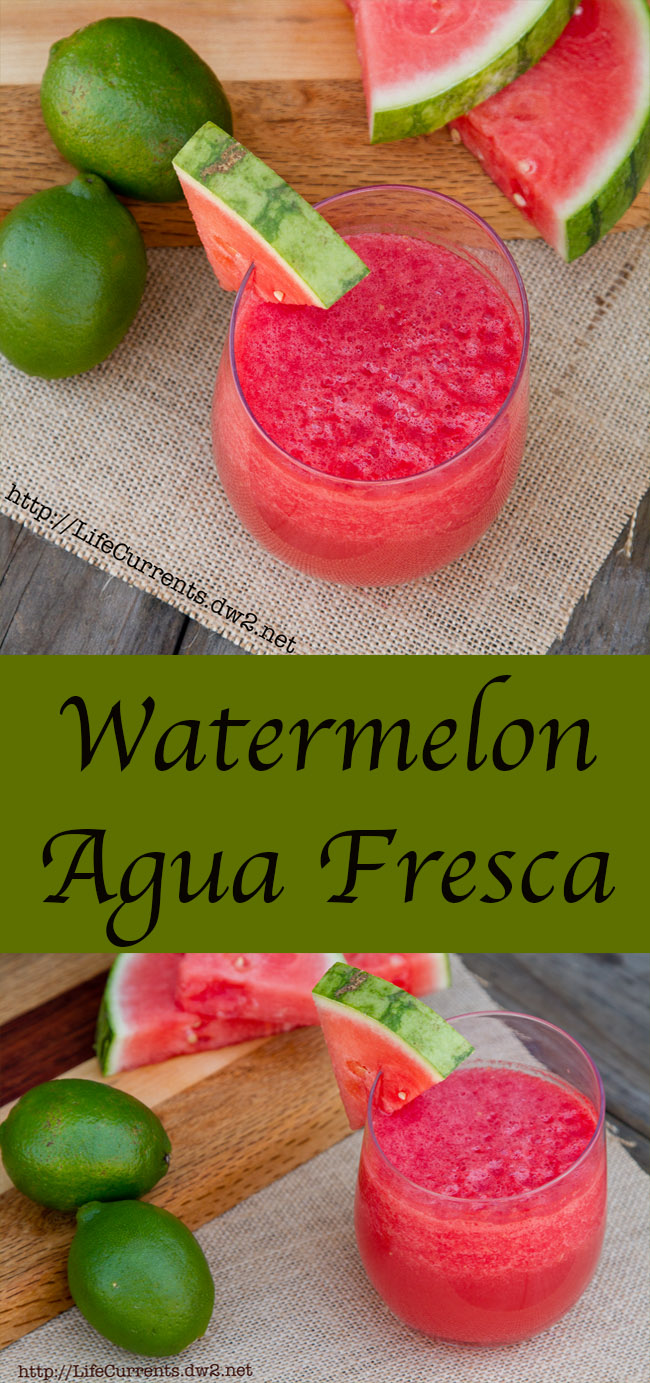 Watermelon Agua Fresca plus a spiked version: the perfect light refreshing summer drink
