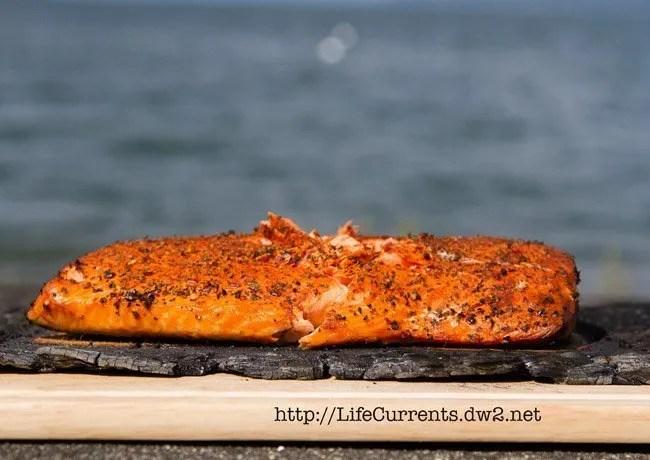 Cedar Plank Grilled Salmon https://lifecurrentsblog.com