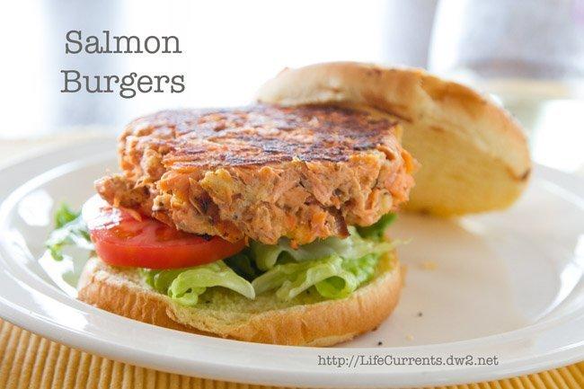 Vegetarian Black Bean Burgers featured recipe for Salmon Burgers