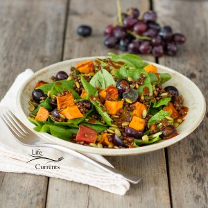 Spicy Lentil and Sweet Potato Salad with Chipotle Vinaigrette Dressing