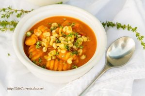 Red Pepper Corn Soup with Gnocchi | Life Currents https://lifecurrentsblog.com