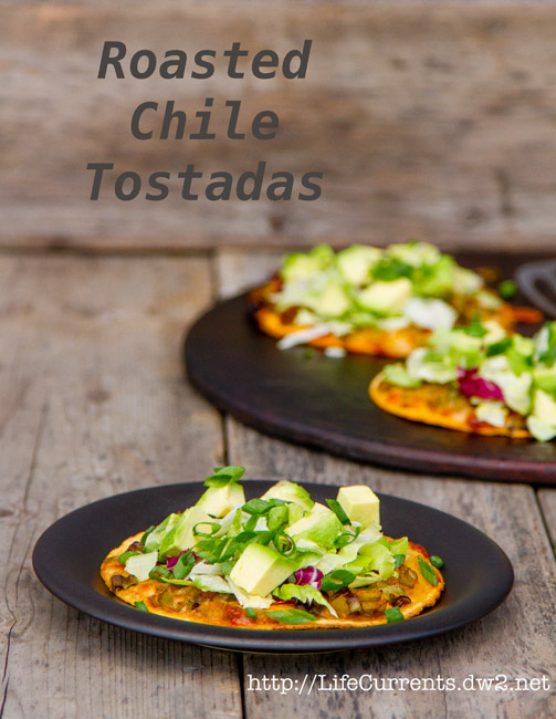 Roasted Chile Tostadas  |  Life Currents   http://LifeCurrents.dw2.net