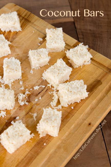 Coconut Bars are tasty little vegan treats filled with healthy coconut goodness | Life Currents paleo