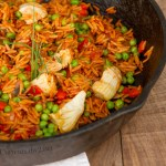 Quick and Easy Paella vegan vegetarian orzo