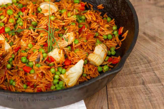 Quick and Easy Paella vegan vegetarian orzo