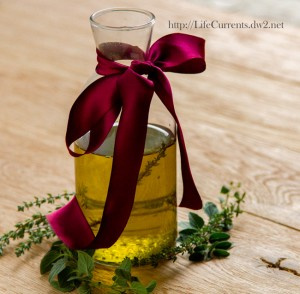 Roasted Herb Oil: a great affordable gift for the holidays