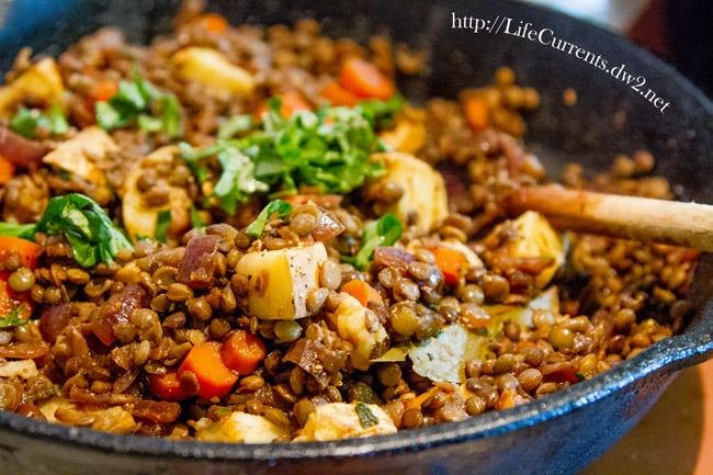 Lentils with Winter Vegetables https://lifecurrentsblog.com