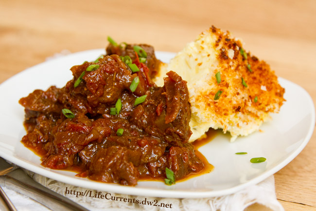 Braised Beef Stew with Balsamic Roasted Tomatoes | Life Currents