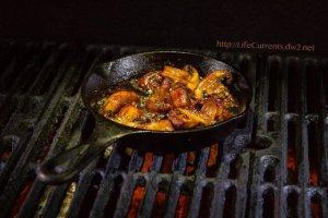 Mushroom Asada on the grill for awesome tacos! https://lifecurrentsblog.com