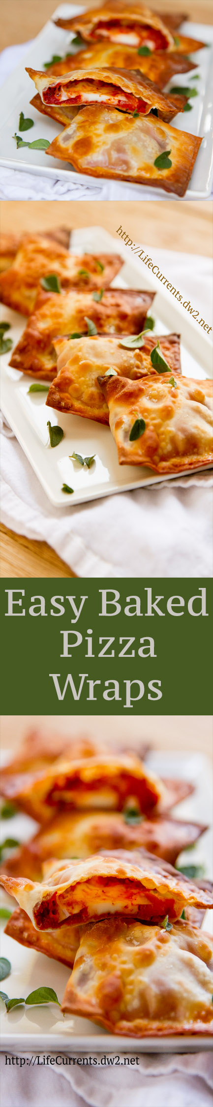 Baked Pizza Wraps recipe