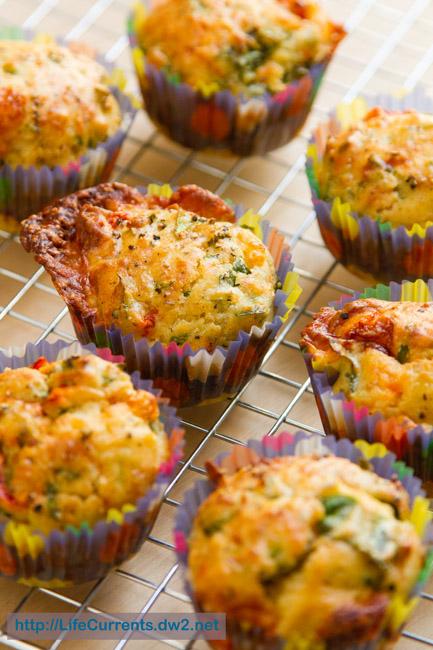 Savory Spinach Parmesan Muffins https://lifecurrentsblog.com