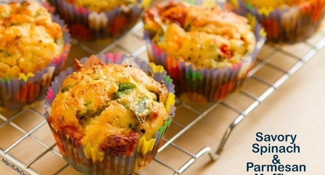 Savory Spinach & Parmesan Muffins