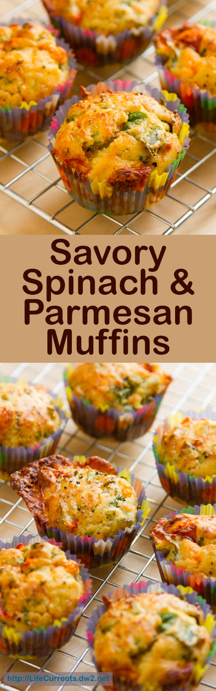Savory Spinach Parmesan Muffins