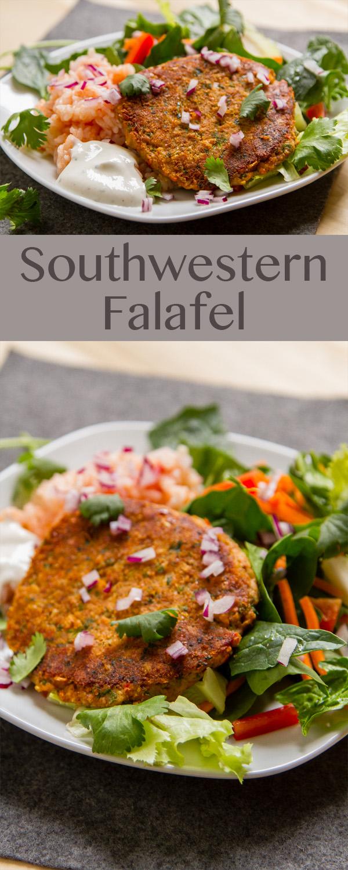 Southwestern Falafel - a super easy, yummy, and healthy meal