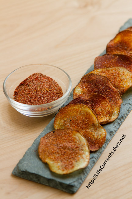 BBQ Potato Chips with spice mix by Life Currents
