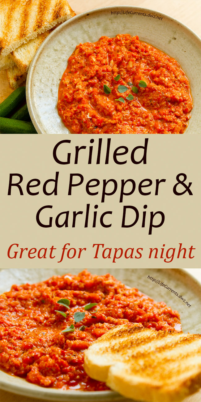 Grilled Red Pepper and Garlic Dip Recipe