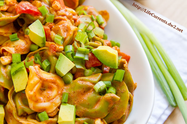 Enchilada Pasta by Life Currents The longest part of this recipe is waiting for the water to boil. Other than that, dinner's ready in no time! And, it's a dinner your family will love and ask for again and again. https://lifecurrentsblog.com