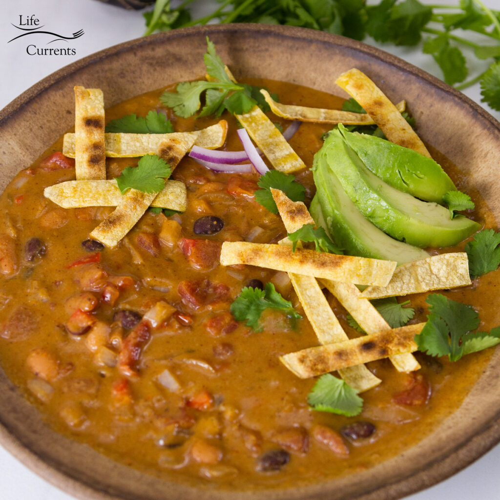 Square crop of Slow Cooker or Crock Pot Creamy Tortilla Soup