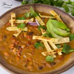 Square crop of Slow Cooker or Crock Pot Creamy Tortilla Soup