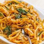Pasta in White Wine Paprika Sauce is a great romatic dinner for you and your sweetie! And, finish the meal with a lovely glass of Snoqualamie Wine! https://lifecurrentsblog.com/