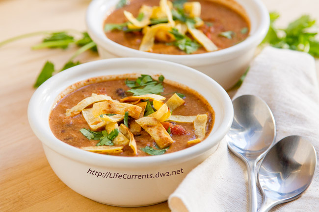 "I've paired up with Meatless Monday and Silk® to bring you my Slow Cooker Creamy Tortilla Soup for their ""Sideline Meat Taste Challenge"". https://lifecurrentsblog.com"