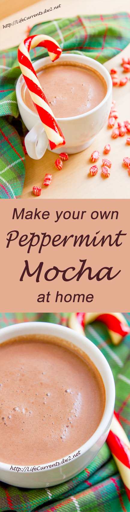 Peppermint Mocha long pin with two images and a title