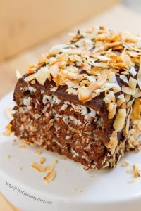 Coconut Chocolate Marjolaine you know you want a slice of this beautiful rich layer cake