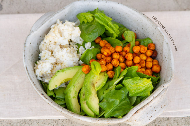 Roasted Garbanzo Bean and Avocado Salad