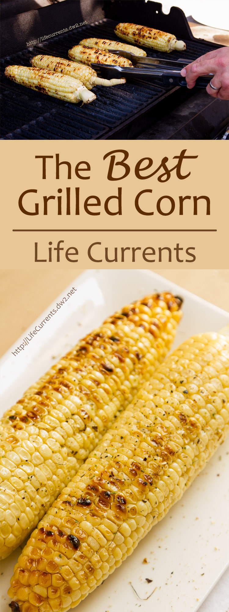 The Best way to make Grilled Corn on the Cob - it makes sweet, toasty, not mushy corn that everyone will love! Perfect for Summer BBQs!