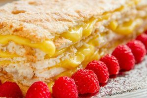 Coconut Meringue Cake with Lemon Curd Filling by Life Currents