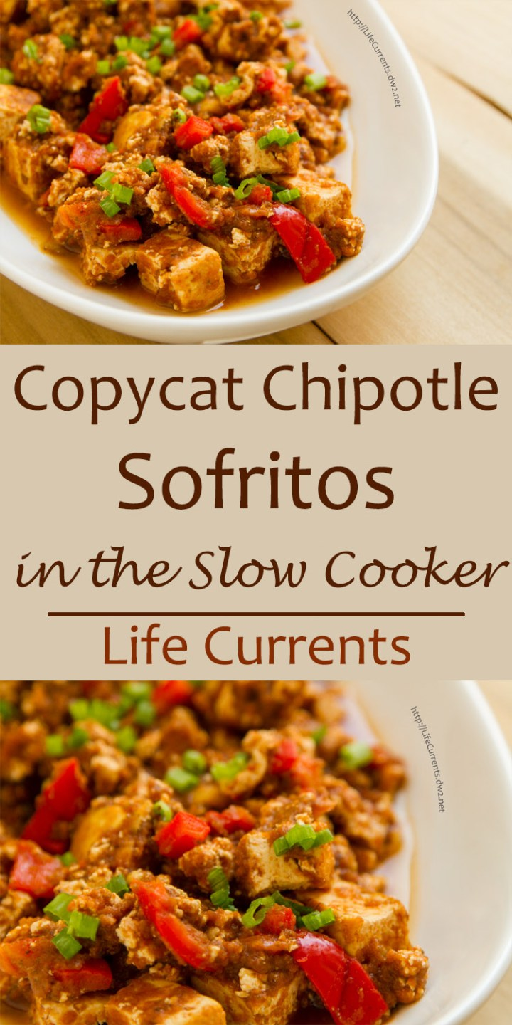 Copycat Chipotle Sofritos in the Slow Cooker or crock pot - Braised Tofu in a full flavored sauce. Vegan. yummy! You will love making these at home