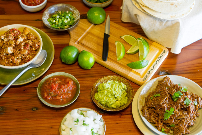 How to Host an Awesome Taco Bar Party with Recipes - Tacos Bars are a fun & informal parties that accommodate a variety of diets & tastes.