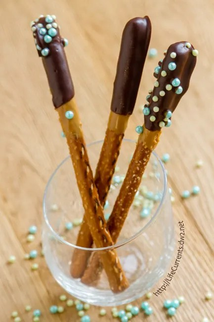 Chocolate Peanut Butter Pretzel Rods for choctoberfest 2016 and Tailgating Snacks Month are a fun dessert snack that everyone, young and old, will love