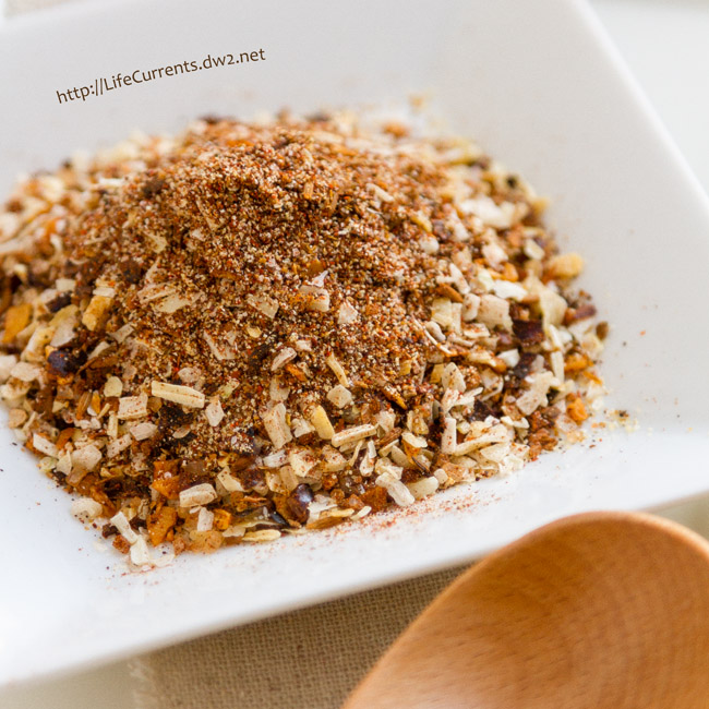 Roasted Chipotle & Garlic Spice Mix -- This is a really versatile spice mix. Try making soup from the Roasted Chipotle & Garlic Spice Mix by adding it to hot water or broth. Try a simple sour cream dip. Anywhere you want a little extra flavor, that's the place to use this.