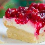 Cranberry Cheesecake Dream Bars