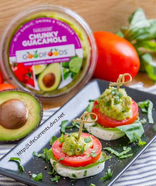 Guacamole Caprese Appetizer Bites