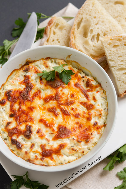 Hot Crab Dip is rich and creamy and makes a delicious appetizer that you can't stop eating!