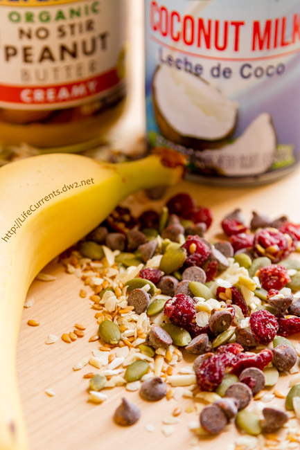 The Velvet Elvis Smoothie ingredients - peanut butter, Smoothie Mix, milk, banana, ice Grocery Outlet Healthy and Affordable Groceries Bargain Organic Groceries Afford Organic Food