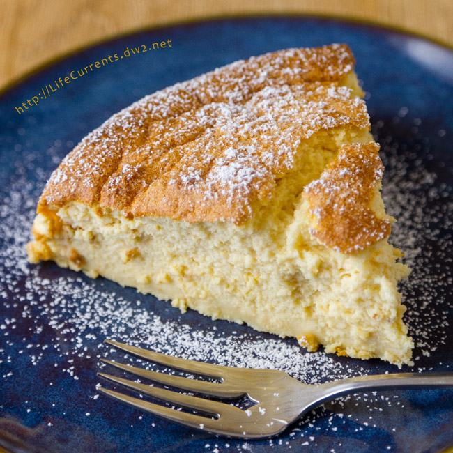 Lemon Soufflé Cheesecake - light and airy, creamy, delicious! And, it was easy to make. Eat it for Dessert or breakfast birthday girl needs