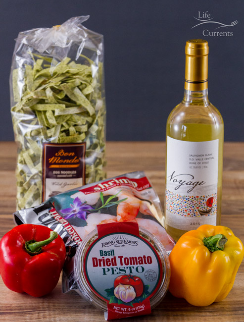 Creamy Pesto Shrimp Pasta grocery bargains discount grocery grocery store organics