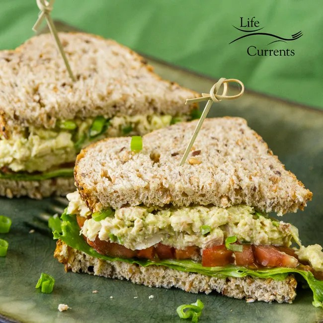 Avocado Tuna Salad Sandwich -- no mayo -healthy yummy treat