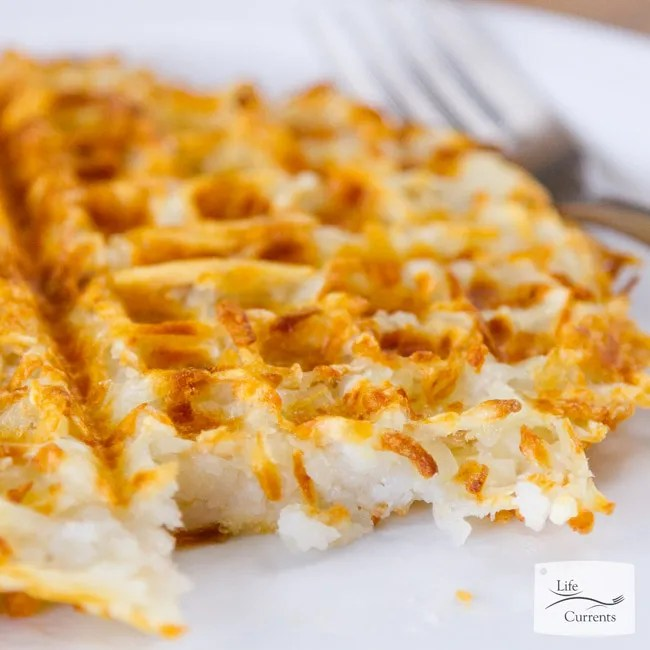 These Waffle Iron Hash Browns are crispy and browned on the outside, soft potato goodness on the inside