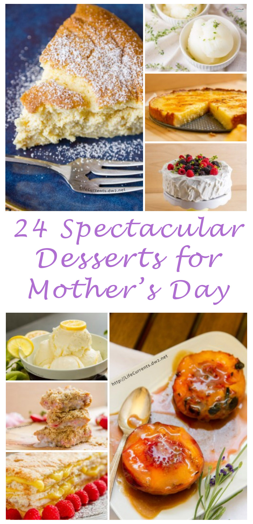 Mother's Day Desserts - treat mom like she's the sweetest, most spectacular people there is. Because, well, that's who she is!